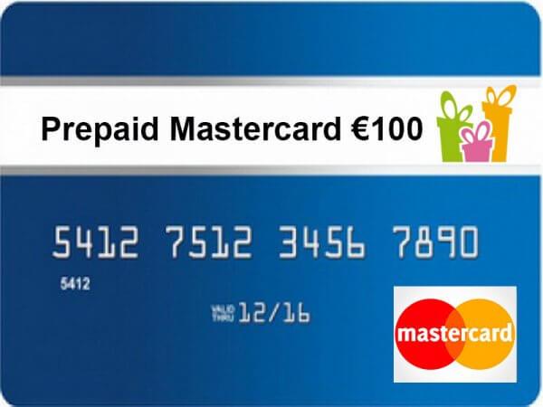 Prepaid MasterCard 100 euro