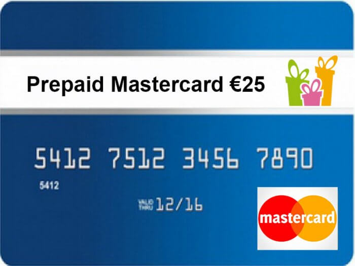 Prepaid MasterCard 25 euro