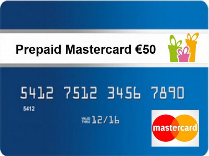 Prepaid MasterCard 50 euro